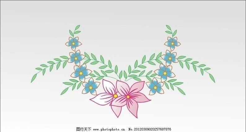 底纹 边框 花纹 花边 矢量 线条 竹花 漂亮 优雅 小花 底纹边框 底纹