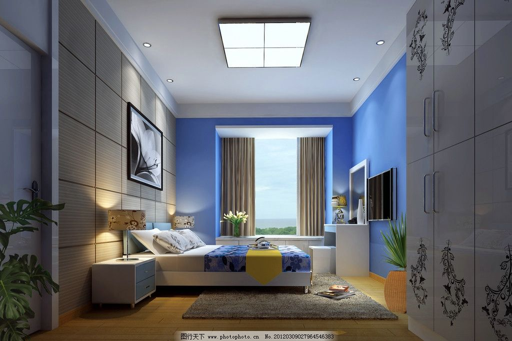 室内小卧室小窗户短款窗帘装修效果图大全