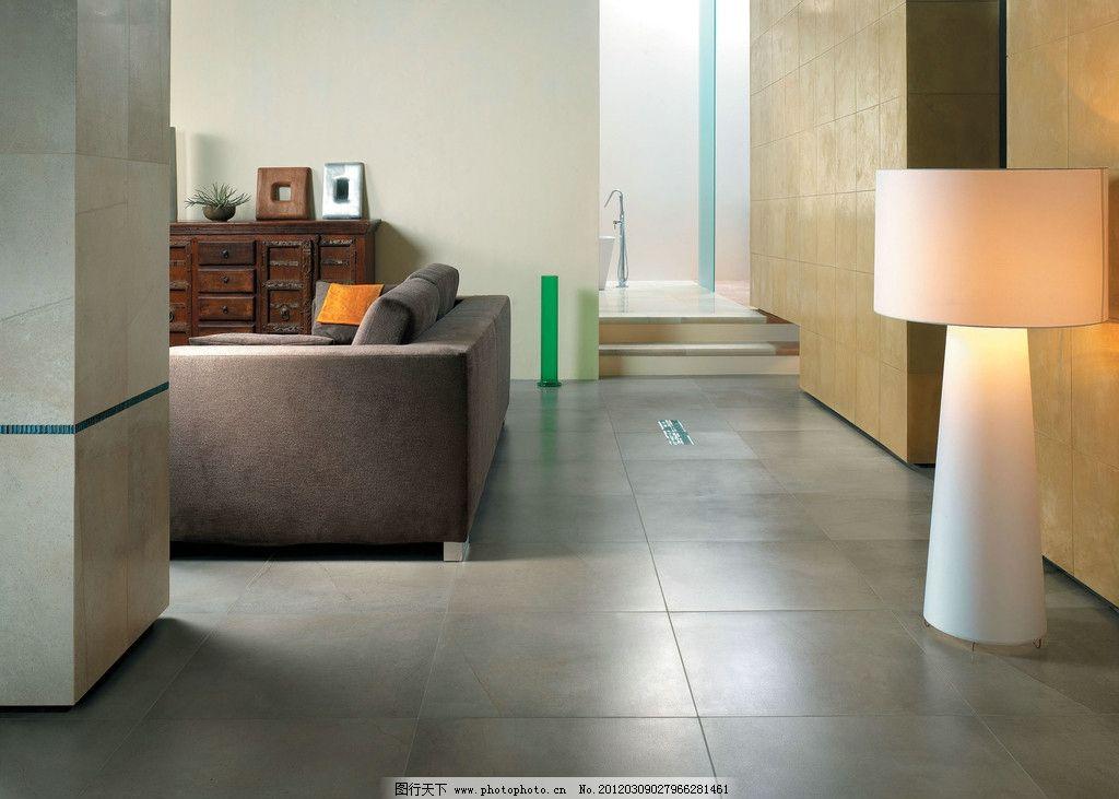 客厅效果图 地砖 室内效果图 沙发 室内设计 环境设计 设计 300dpi