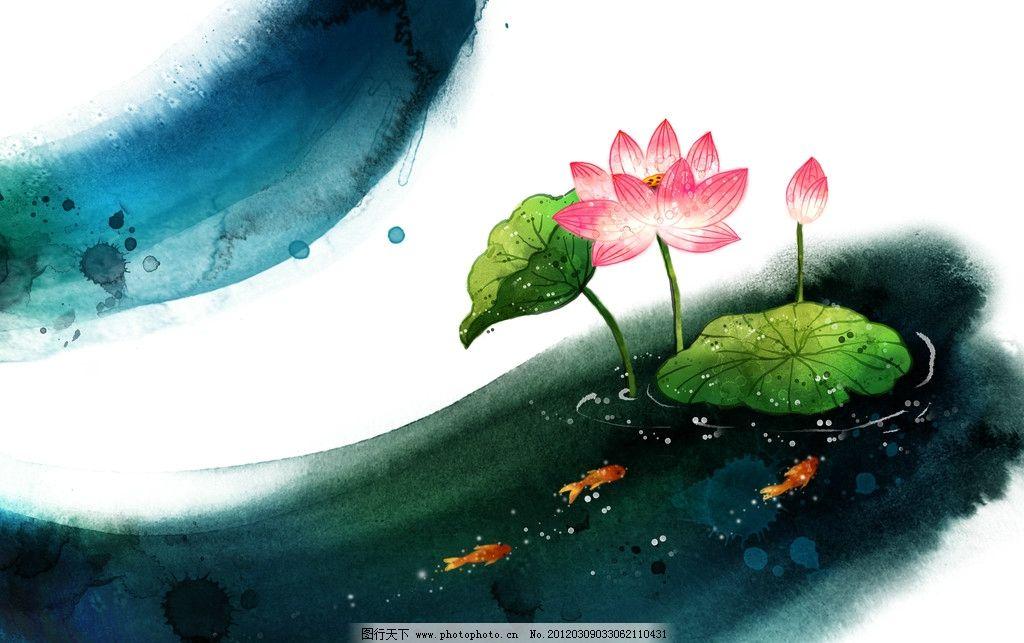 底纹 飞白 手绘图案 手绘花卉 韩国风格 花朵 韩国 精品 抽象画 水彩