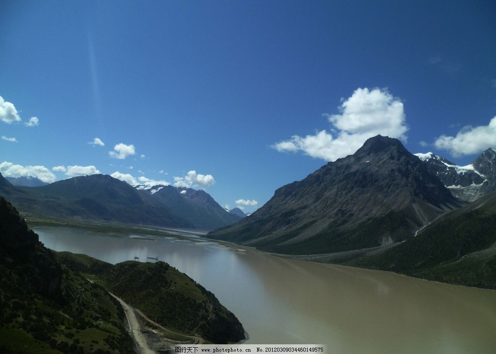 美丽的然乌湖图片_山水风景_自然景观_图行天下图库
