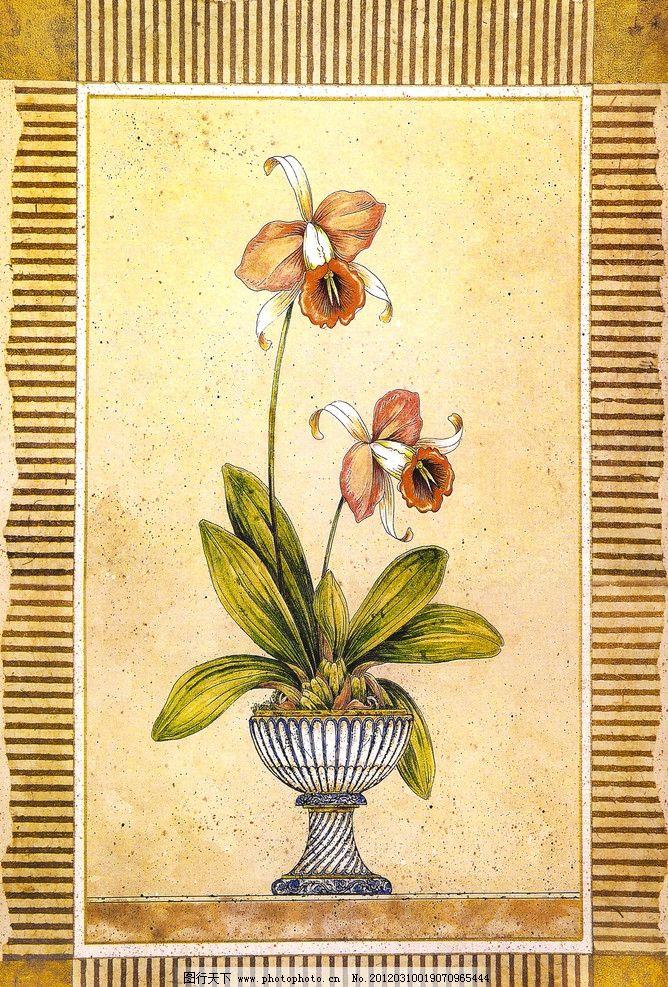 油画花卉 油画 花卉 花瓶 花盆 绘画 素描系列 绘画书法 文化艺术