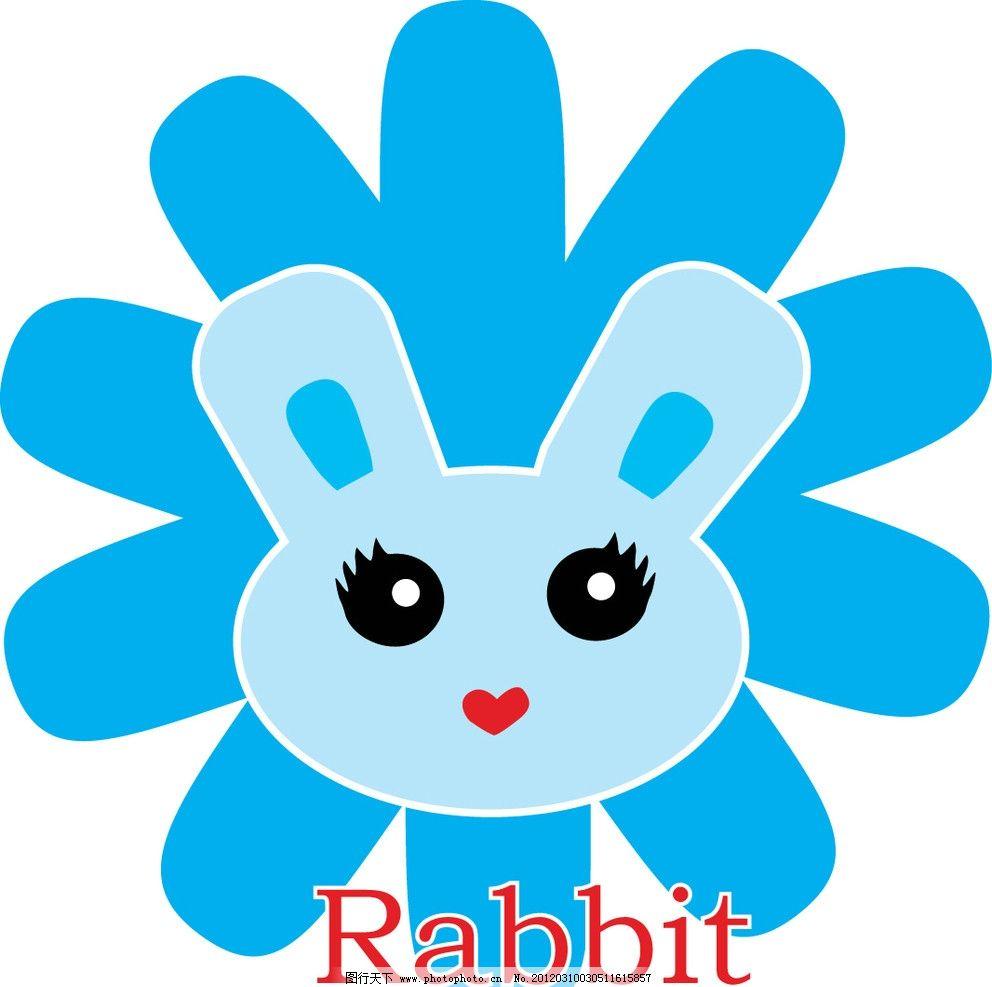 兔子背影简笔画-卡通小兔子背景