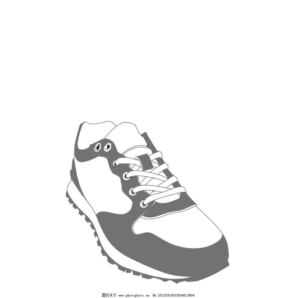 手绘运动鞋 线条 运动鞋 鞋子 其他 psd分层素材 源文件 200dpi psd