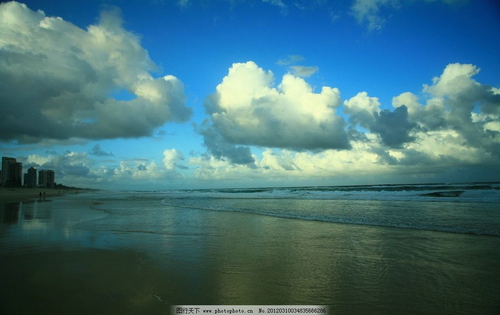沿海风光图片,白云 蓝天 海上风景 自然风光 自然风景