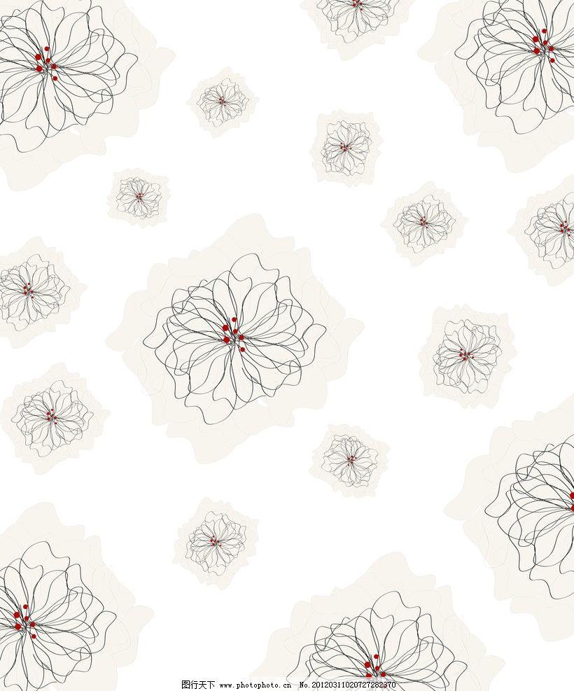 素花 线花 简洁 素色 花纹 移门图案 底纹边框 设计 72dpi jpg