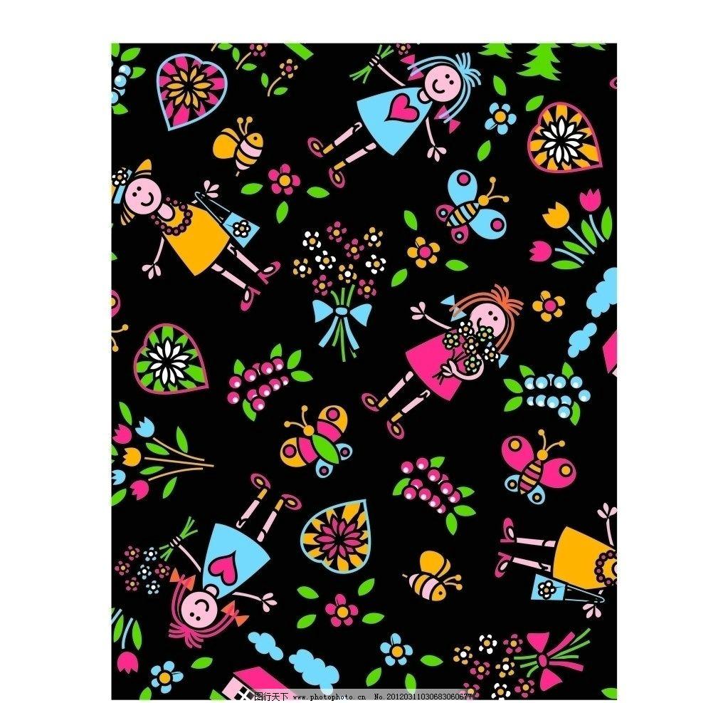 服装设计 印花 绣花 图案 移门 英文字母 烫钻 彩钻 贴布绣 可爱动物