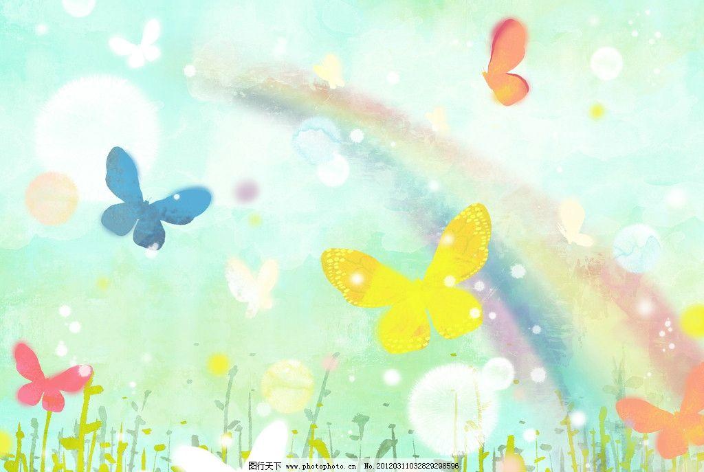 田园风光 春天绘画 春季广告 橱窗设计 彩粉画 蜡笔画 手绘风景 春季