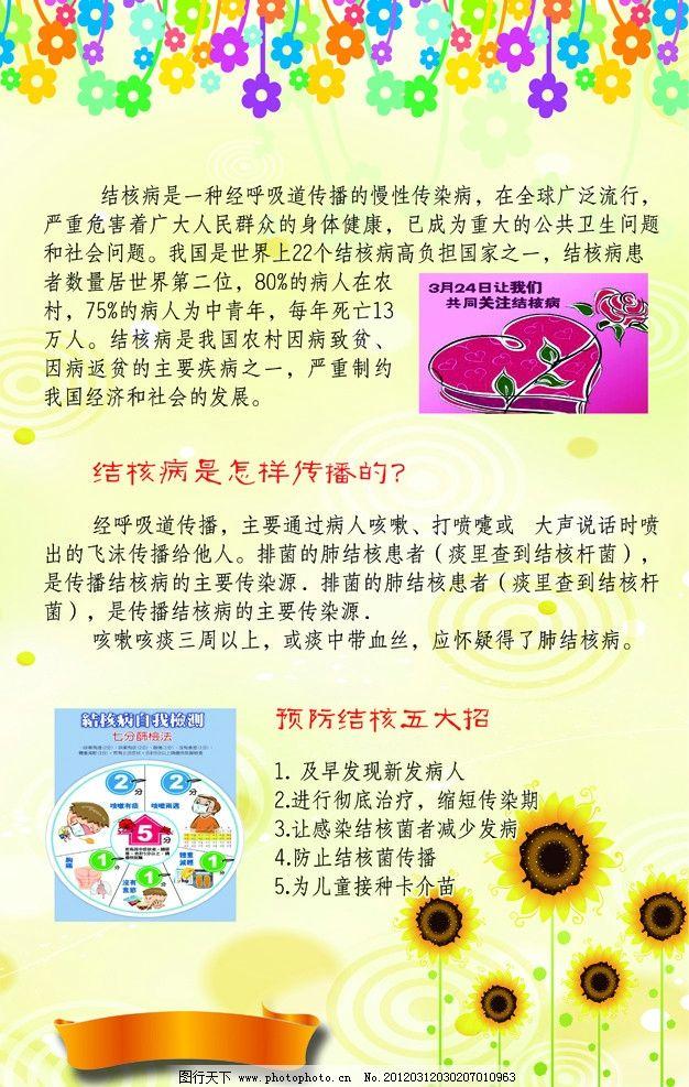 防结核病展板 学校 单位 预防 健康 卫生 防治 防止 展板模板