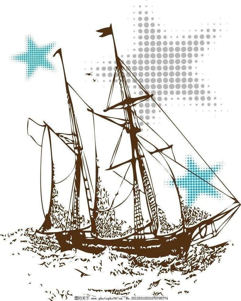 船 帆船 简笔画 手绘 线稿 792_987 竖版 竖屏