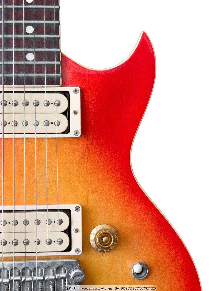 电吉他特写 电吉他 琴弦