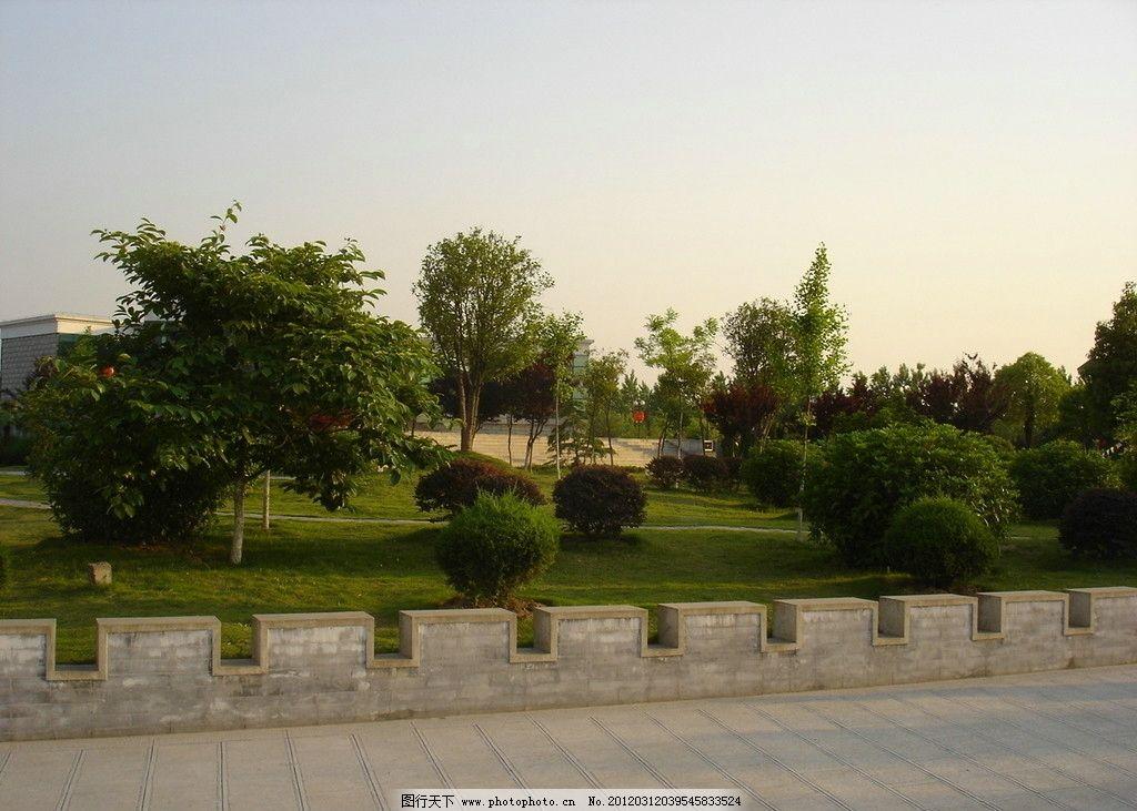 合肥徽园 公园 绿化 景观 草坪 树木 园林建筑 建筑园林 摄影