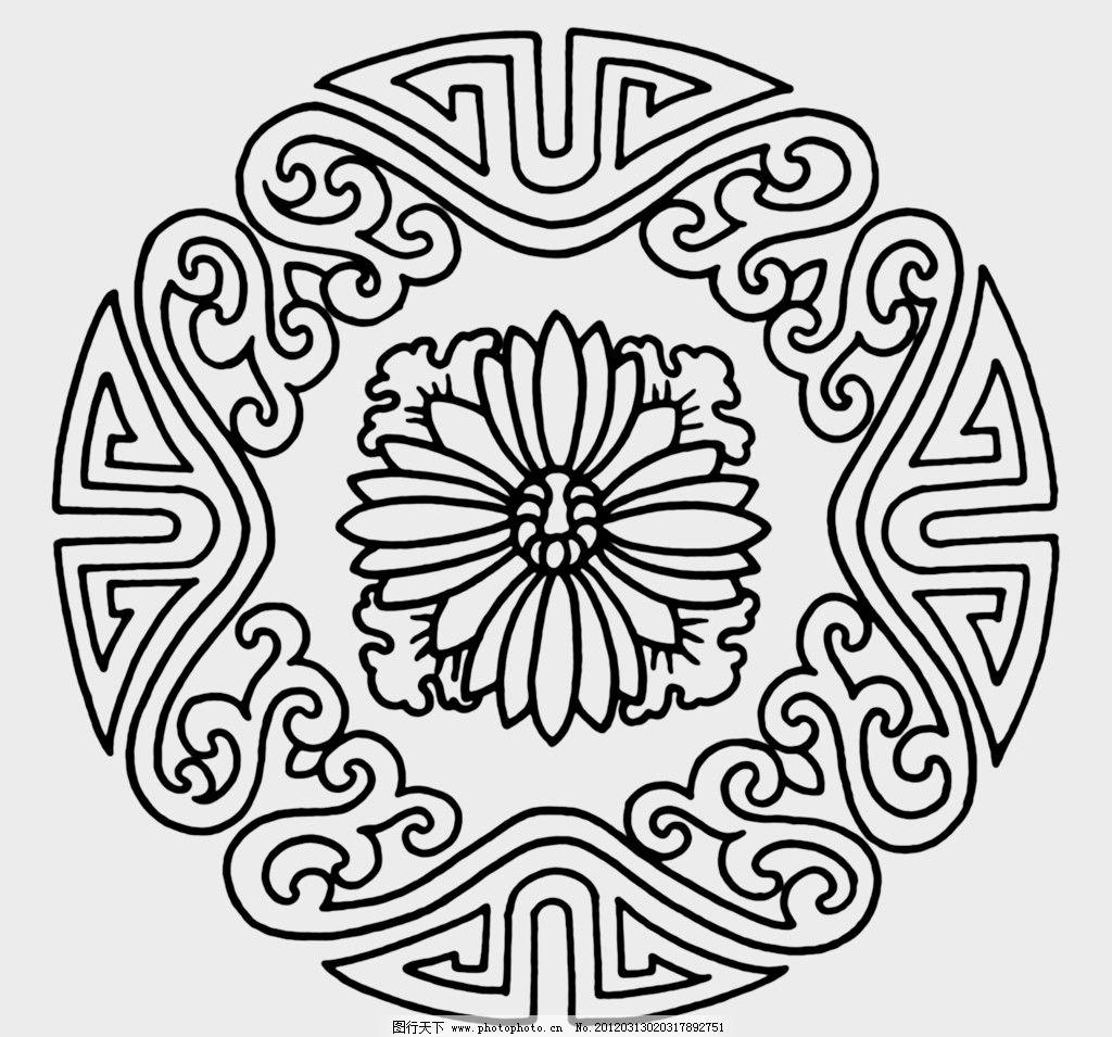 黑白花纹 纹路 装饰纹路 设计 花边花纹 底纹边框 72dpi jpg
