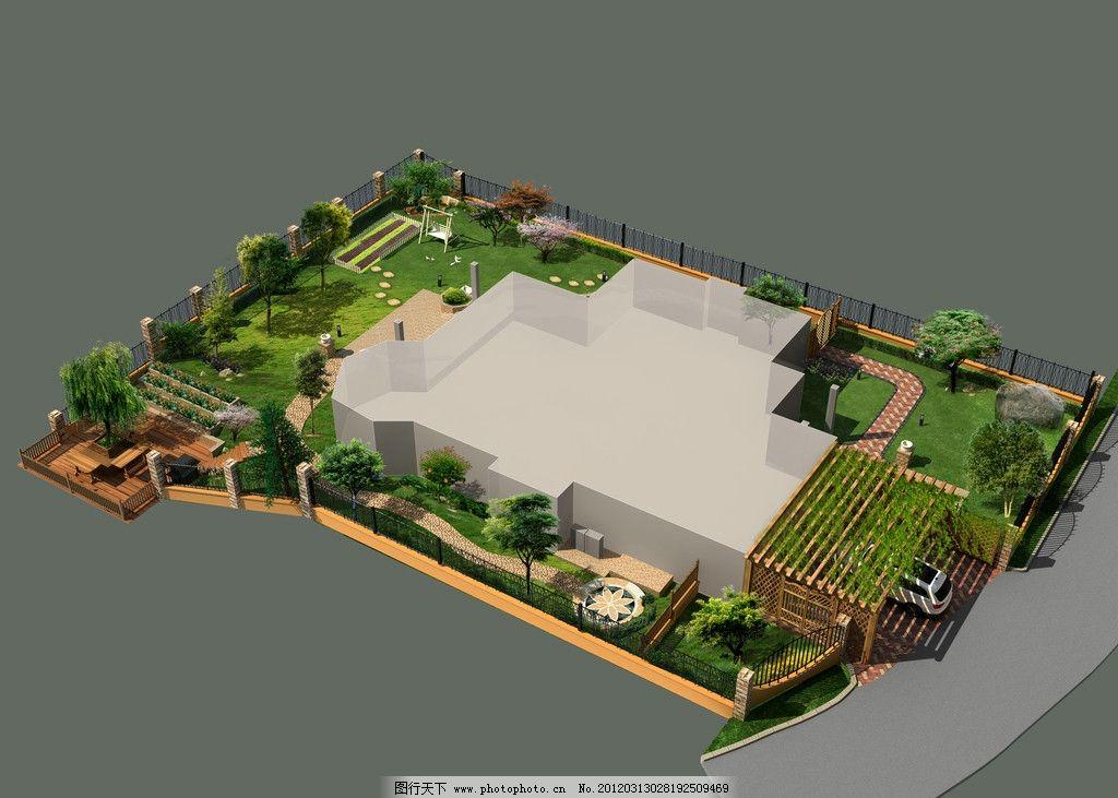 庭院设计 别墅 绿化 景观设计