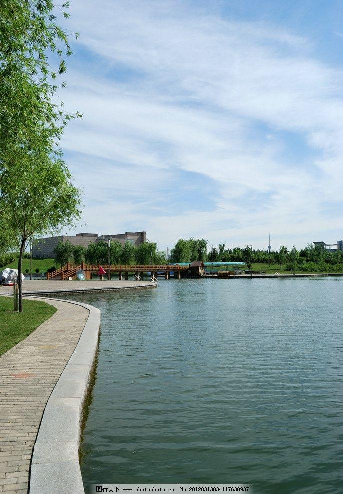 焦作迎宾馆外景 湖泊 岸边 自然风景 旅游摄影 摄影 300dpi jpg