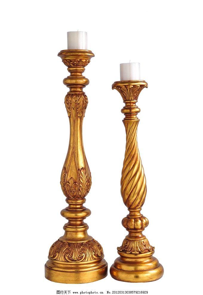 金色罗马烛台雅典娜 金色欧式烛台 欧美古典皇家装饰 饰品素材 家居样
