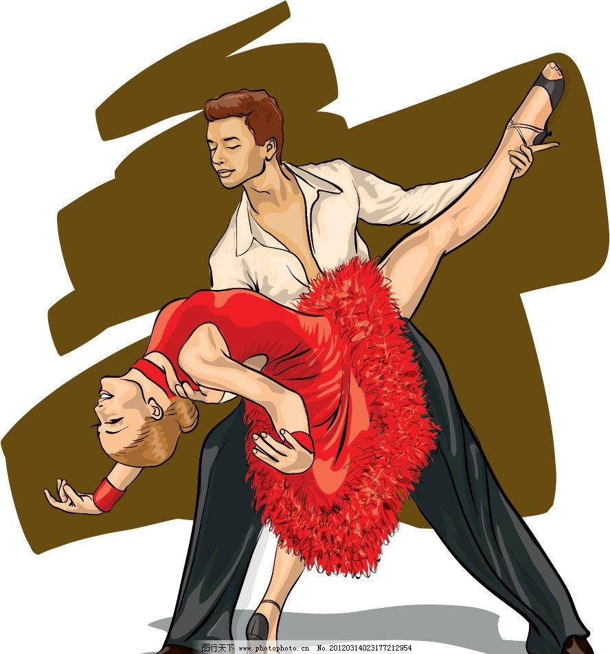 双人舞蹈 跳舞 舞蹈 双人 优美 姿势 手绘 浪漫 矢量 婚礼婚纱新郎