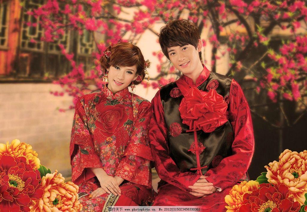 红色恋人 婚纱 古装