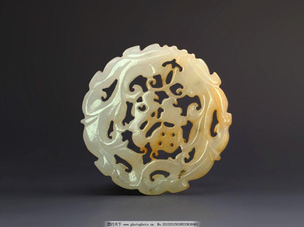 玉器 白玉浮字镂空雕兽纹佩图片,鹅梅 玉石 玉雕 石雕