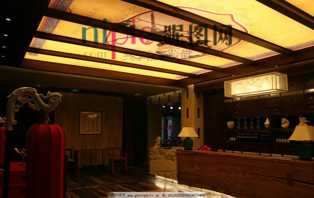 室内设计 饭店前台 饭店设计 收银台 灯具 酒店设计 会所设计