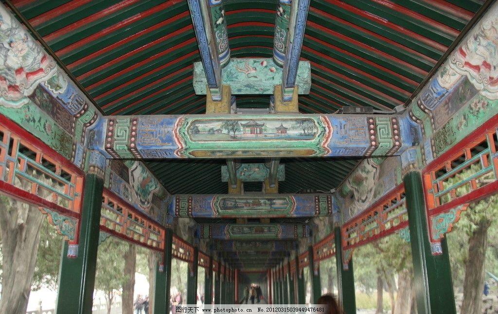 颐和园 长廊 彩绘 景点 建筑摄影 建筑园林