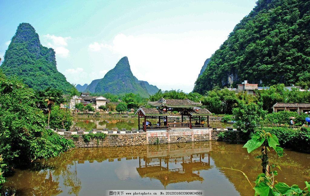 黄姚古镇风光图片,风景 旅游 广西昭平 村庄 竹林-图