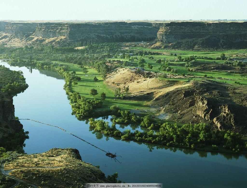 河流 山川 绿色 风光 田园风光 自然风景 自然景观 摄影 300dpi jpg