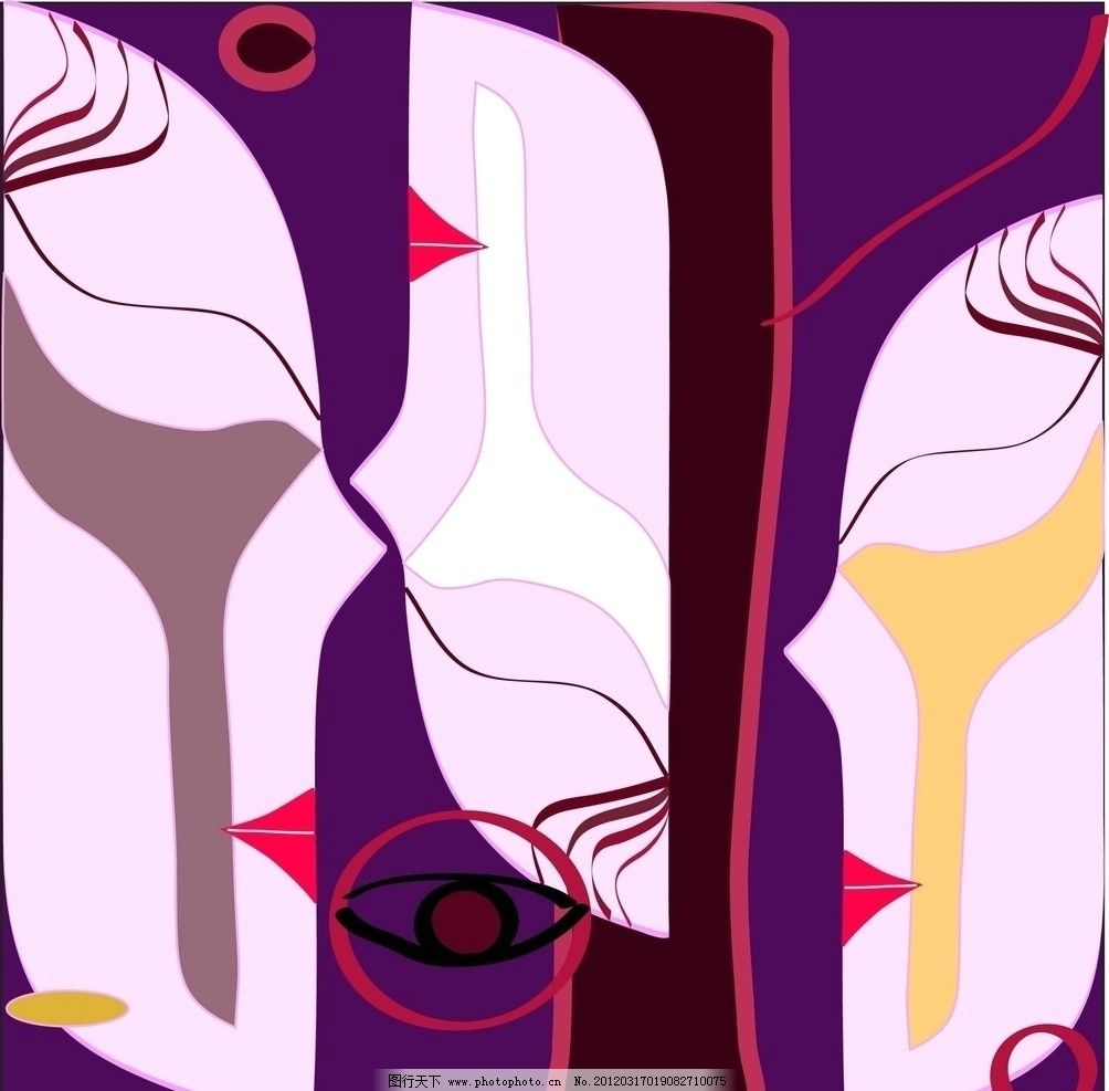 印象 印象人物脸平面构成点线面构成平面设计 美术绘画 文化艺术 矢量