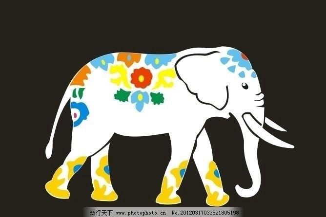 大象 卡通象 卡通艺术 室内挂画 餐厅挂画 人物 花边 图案 底纹