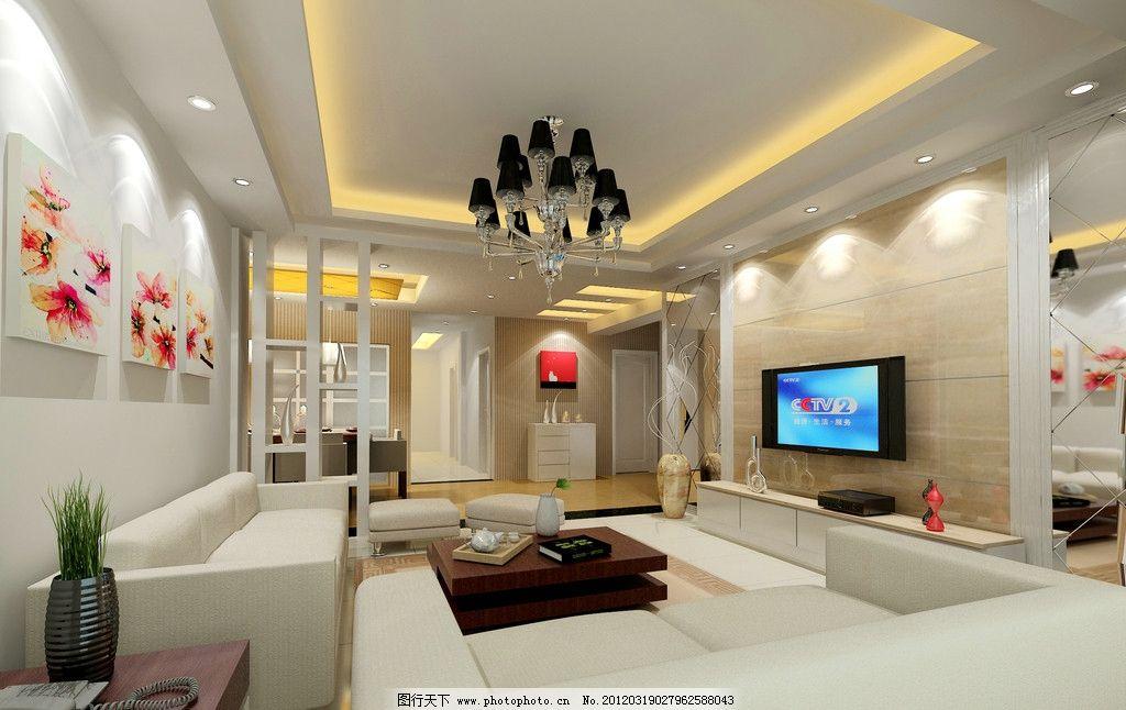 欧式客厅 欧式 欧式家居      电视 沙发 室内设计 环境设计 设计 2dp