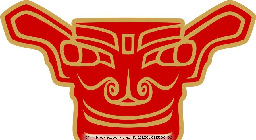 三星堆标志 青铜器 广告设计 矢量 cdr
