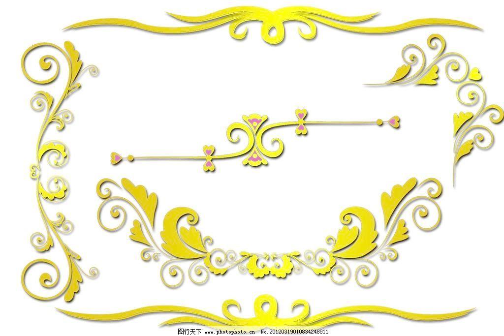 欧式黄金边框图片