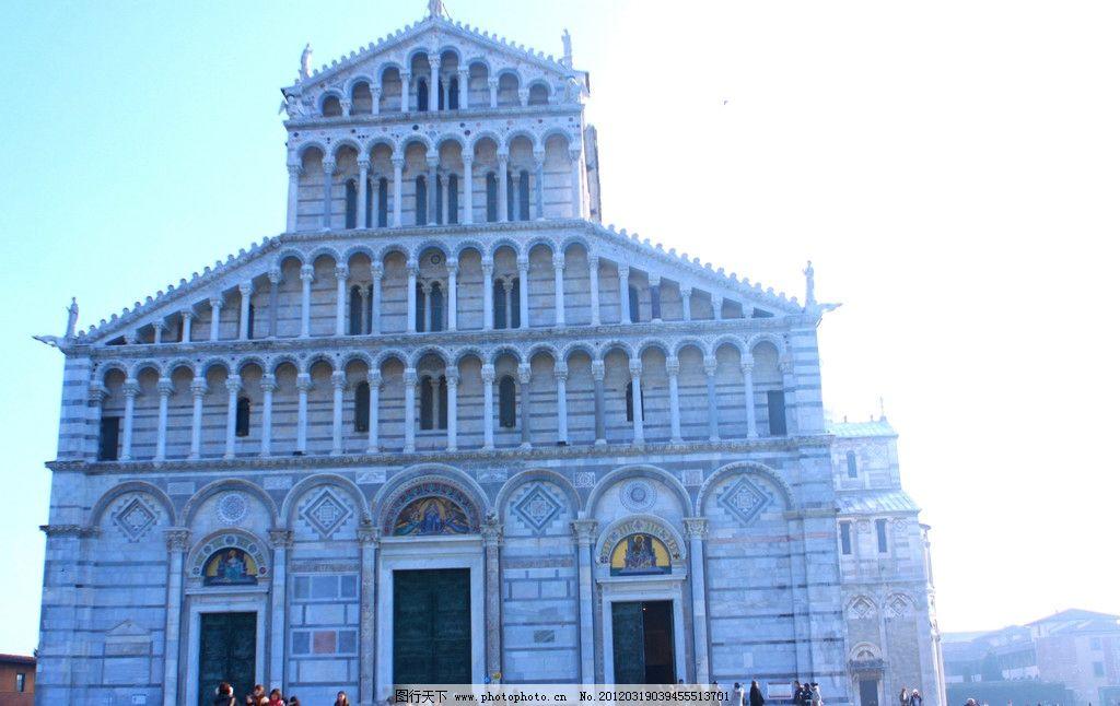 比萨大教堂 罗马式教堂 建筑 典型代表 意大利比萨大教堂 四层图片
