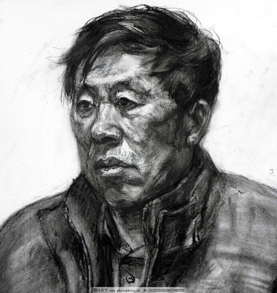 素描头像 素描人像 头像素描      素描 绘画 手绘 男人 中国美术学院