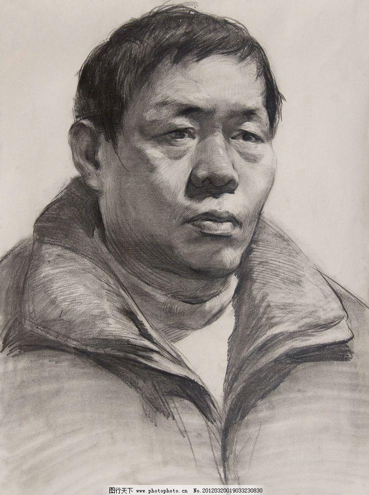 素描头像 素描人像 头像素描 头像 素描 绘画 手绘 男人 中国美术学院 教师作品 男青年 头像作品 人物 人像 人头像 高考素描 衣服 服装五官 头发 眼睛 鼻子 嘴巴 耳朵 绘画书法 文化艺术 设计 350DPI JPG