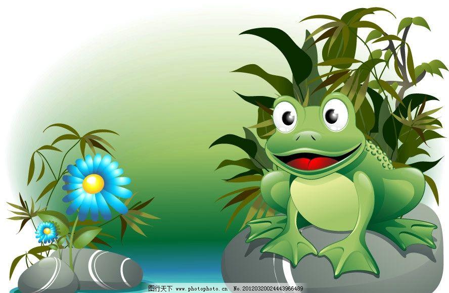 可爱青蛙鲜花图片