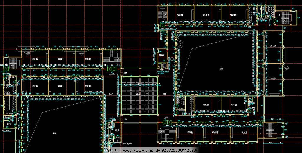 教学楼 五层平面图片_建筑设计_环境设计_图行天下图库