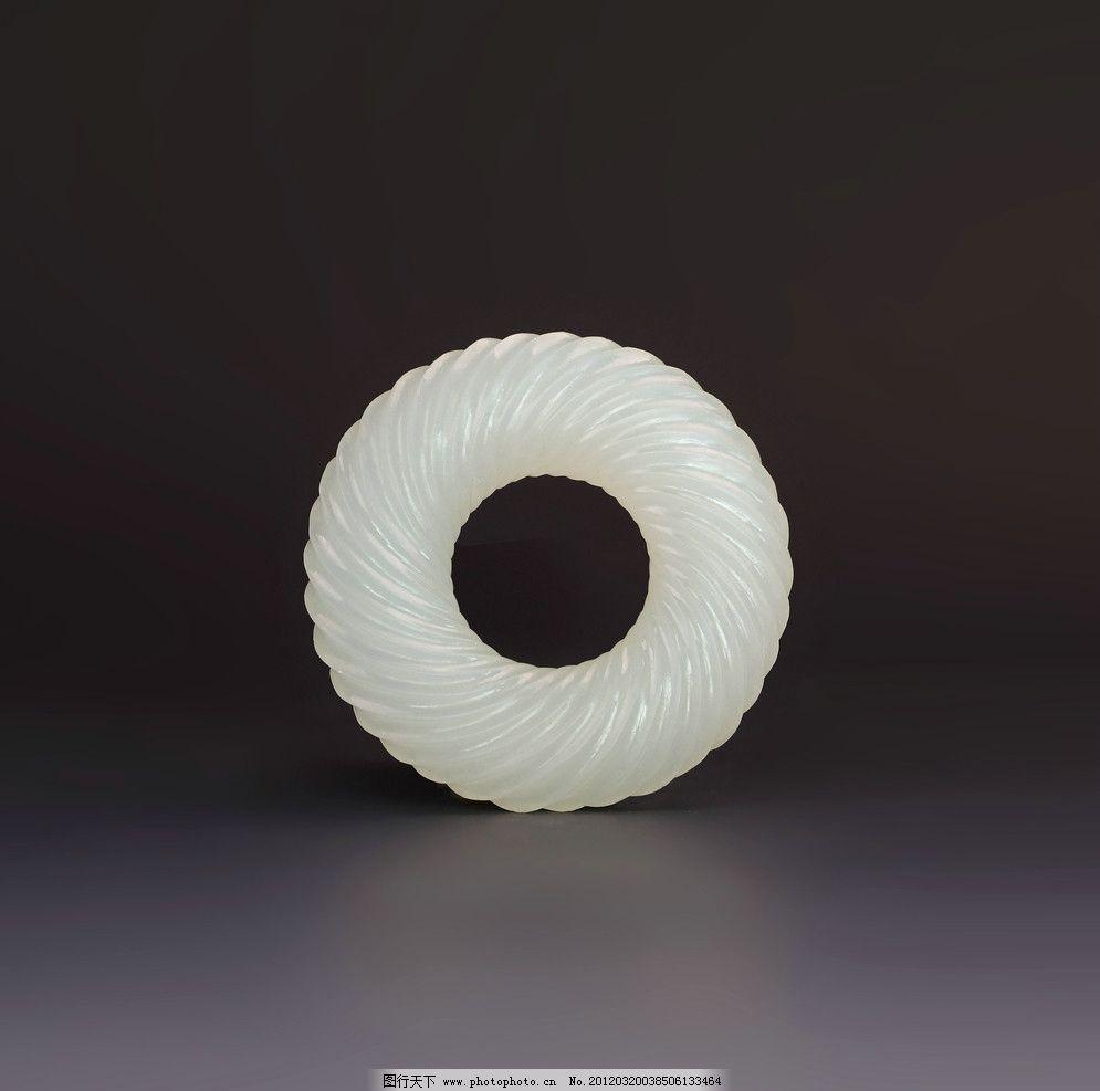 玉器 绞丝纹圆佩图片,古董 收藏 玉石 石雕 玉雕-图行