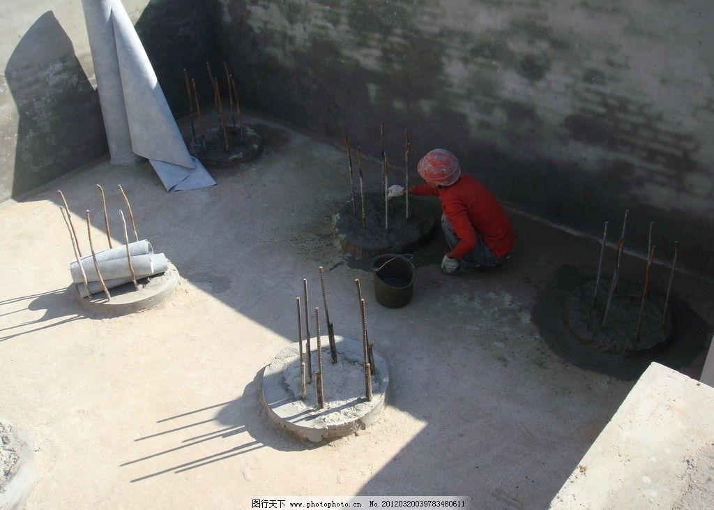 建筑工地 土木工程 建楼 盖房子 建筑 工人 钢筋 脚手架 建筑工程