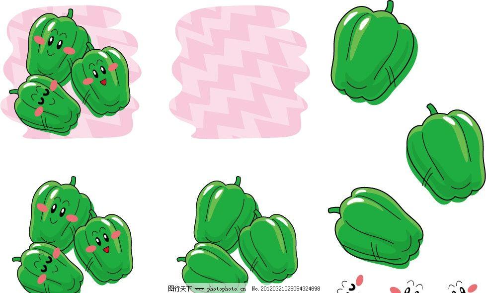 手绘青椒表情 插画 插图 可爱 卡通 符号 微笑 开心 睡觉 厨房