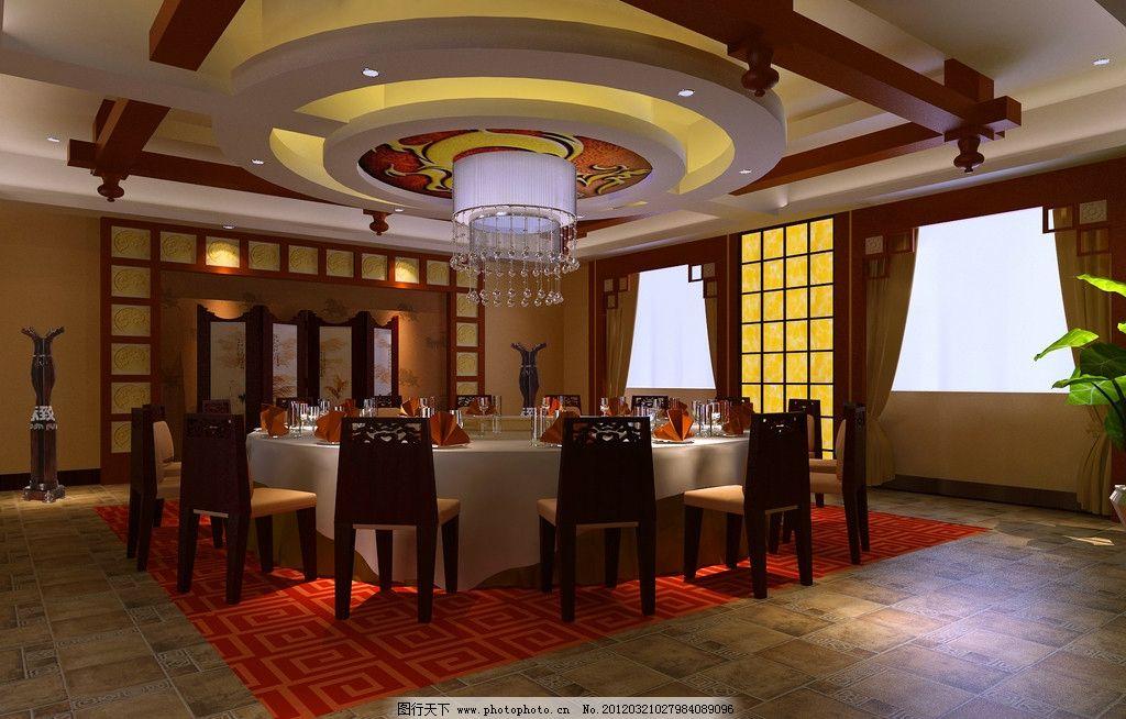 奢华中式餐厅包间效果图图片图片