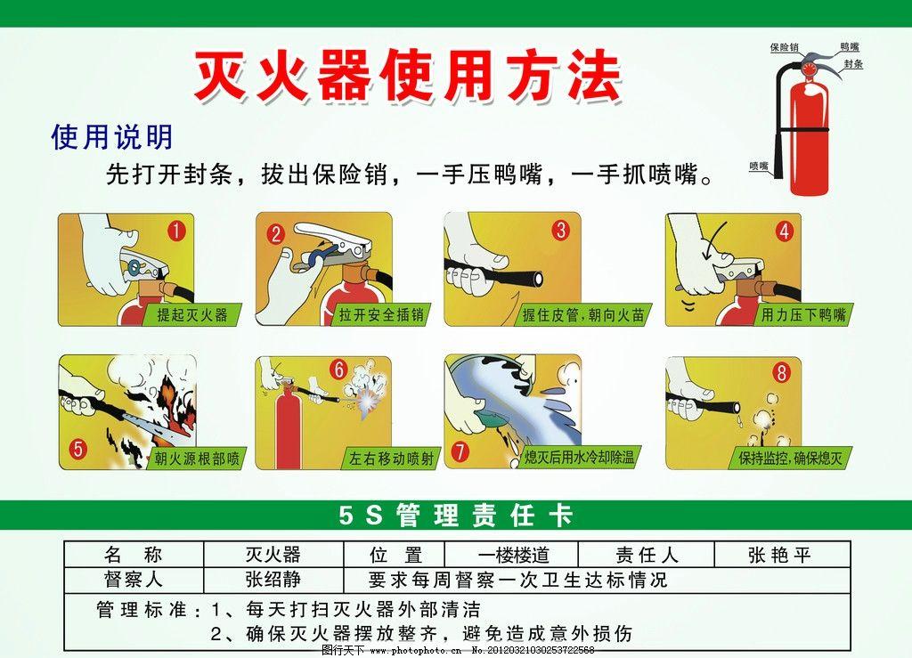 灭火器使用方法 灭火器 使用 方法 干粉灭火器 消防 火灾 灭火 步骤