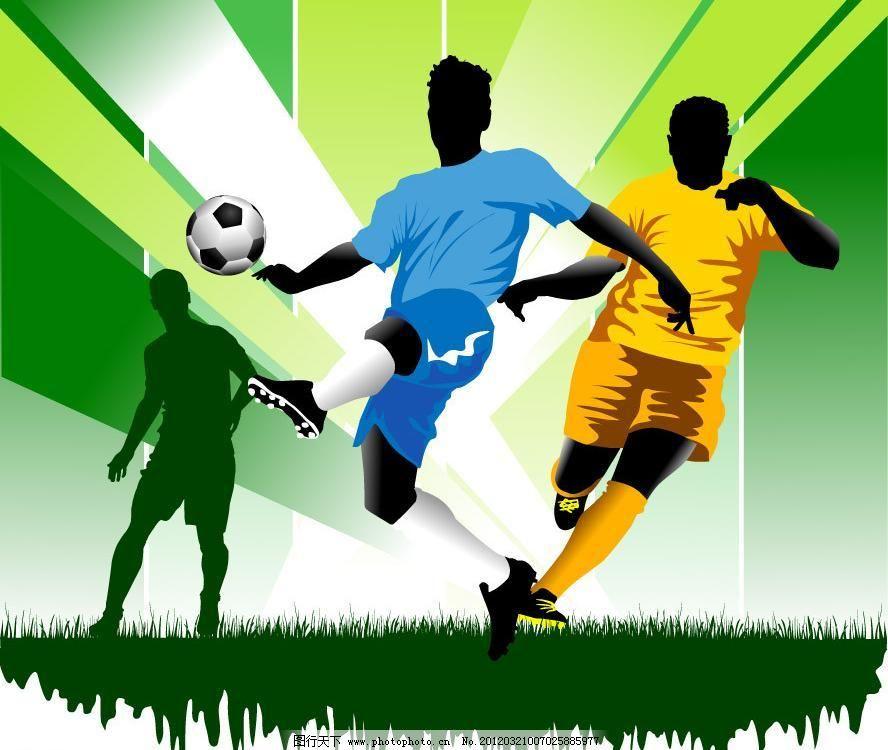 足球比赛 足球运动员图片,奥运会 背景 草地 潮图片