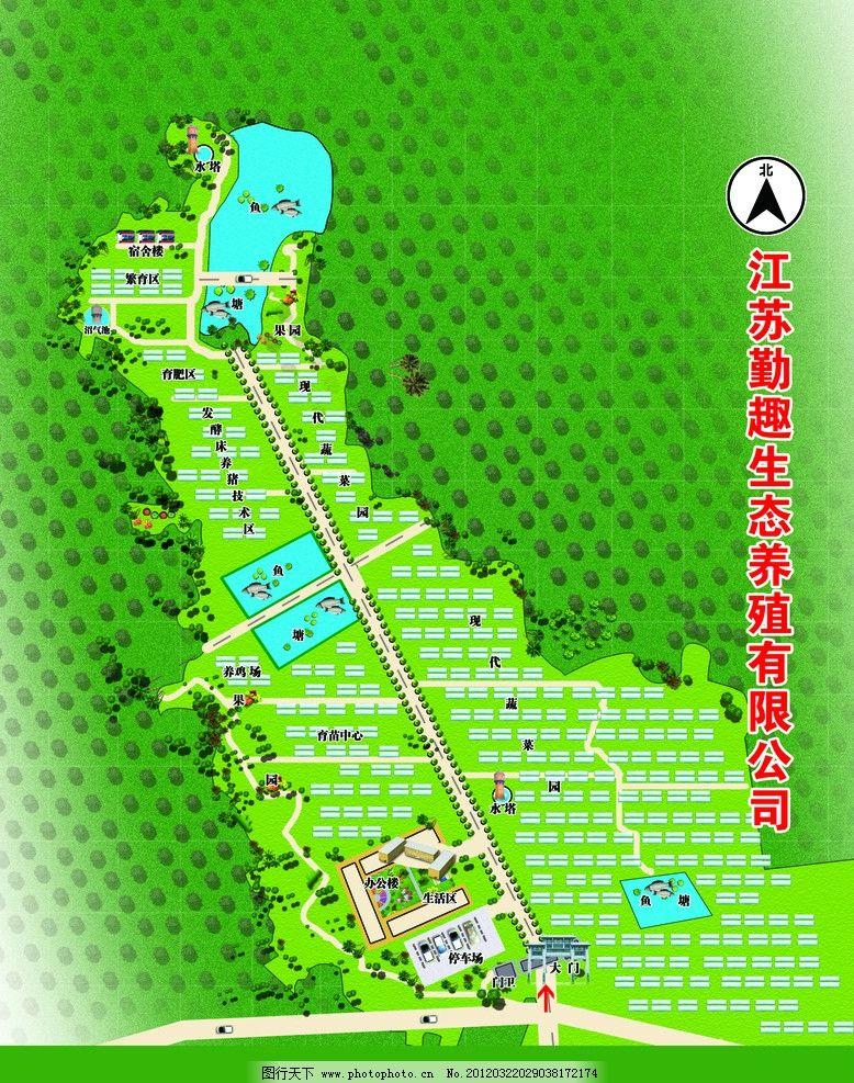 农庄 平面规划图