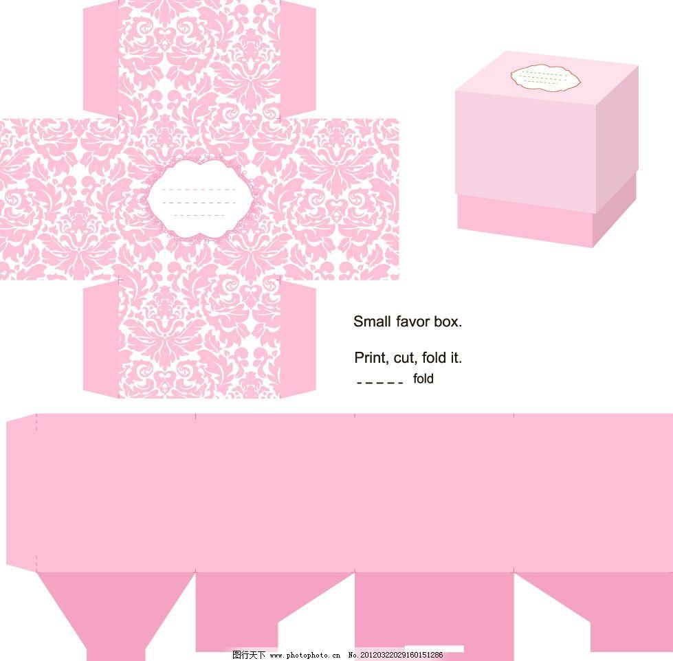 欧式花纹 包装盒设计图片