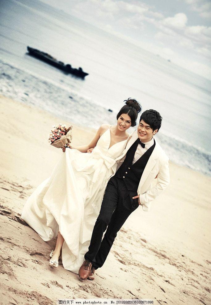 结婚照 婚纱照 帅哥 美女 海边 情侣照 写真 浪漫 人物摄影