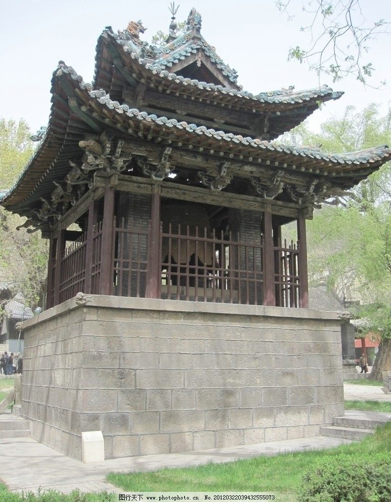 晋祠宋代木构结构建筑图片