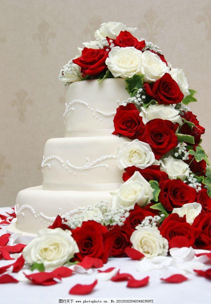 蛋糕 三层蛋糕 精美蛋糕 生日蛋糕 节日蛋糕 西餐美食 餐饮美食 摄影