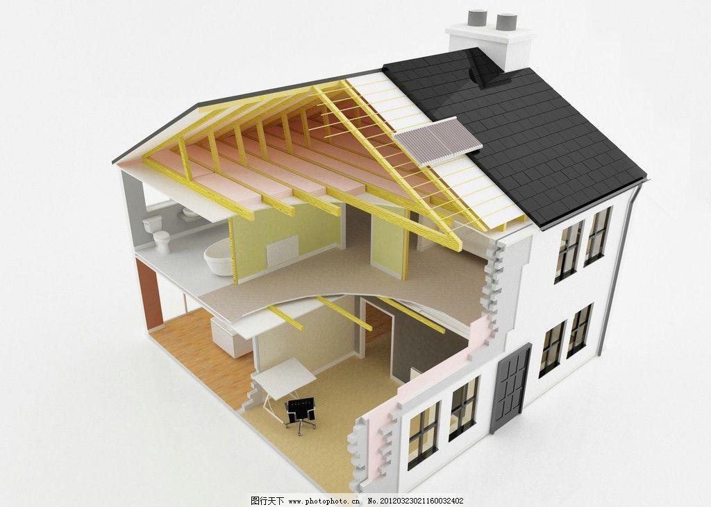 建筑内部 建筑内部透视图 房屋