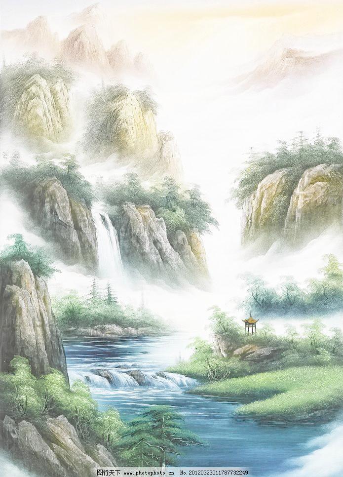 山水风景画图片